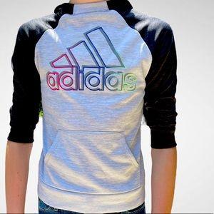 Adorable Adidas Rainbow Hoodie! Size M (10/12)